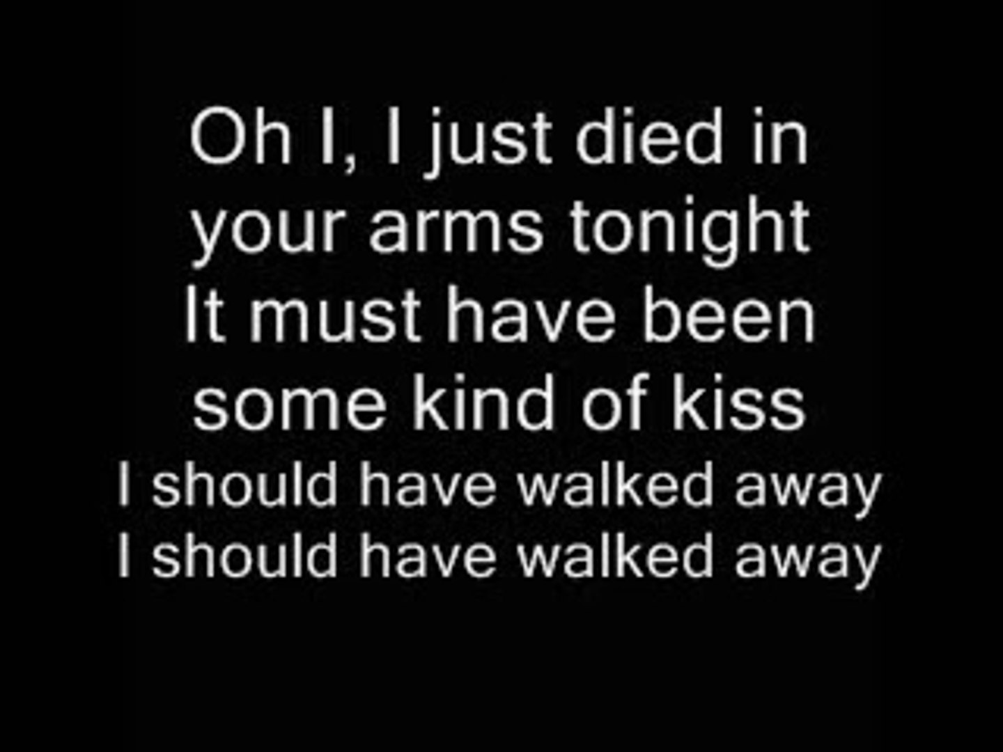i just died in your arms cover