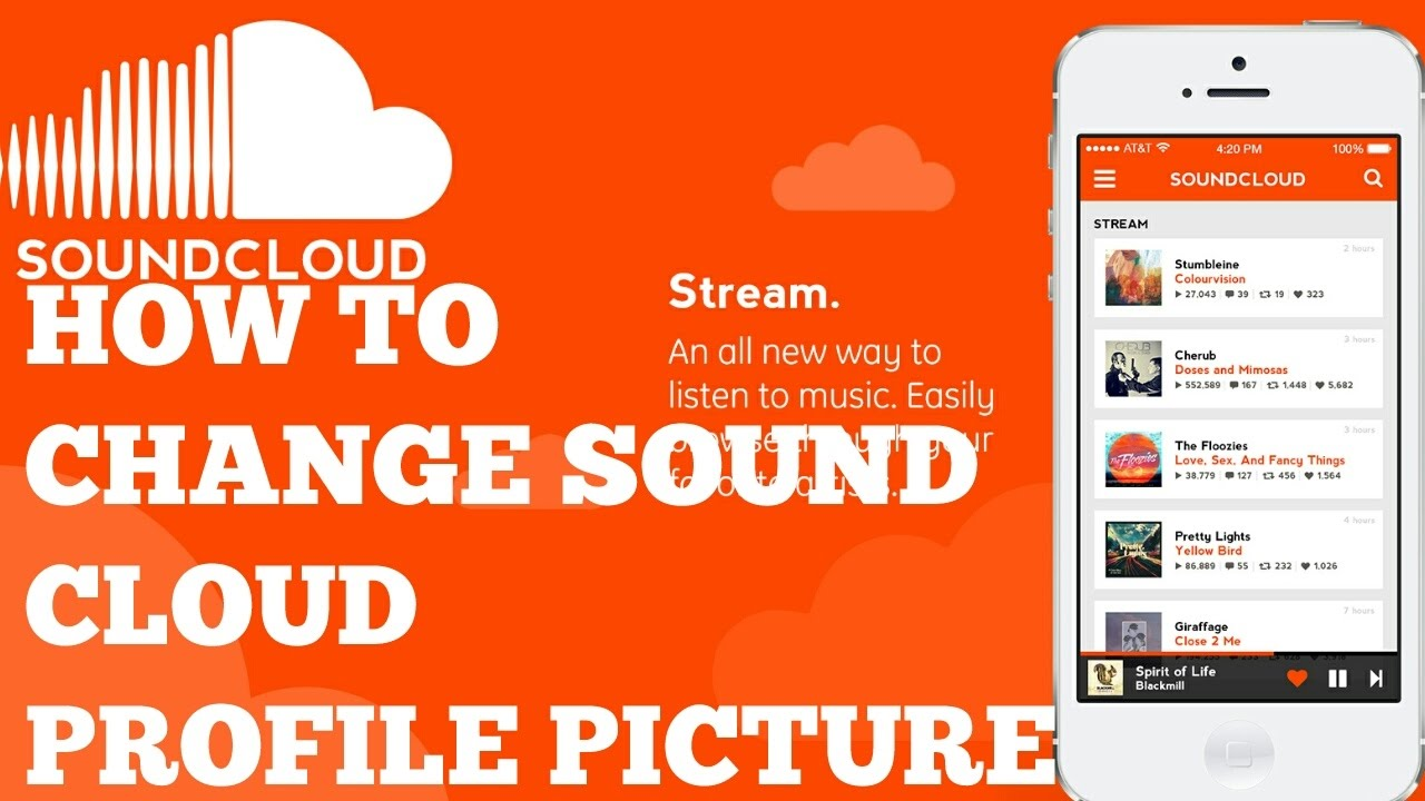 how to change profile in soundcloud